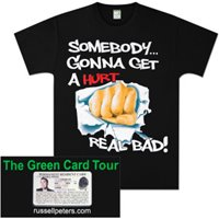 Somebody  Green Card Tour T-Shirt (Men's) image